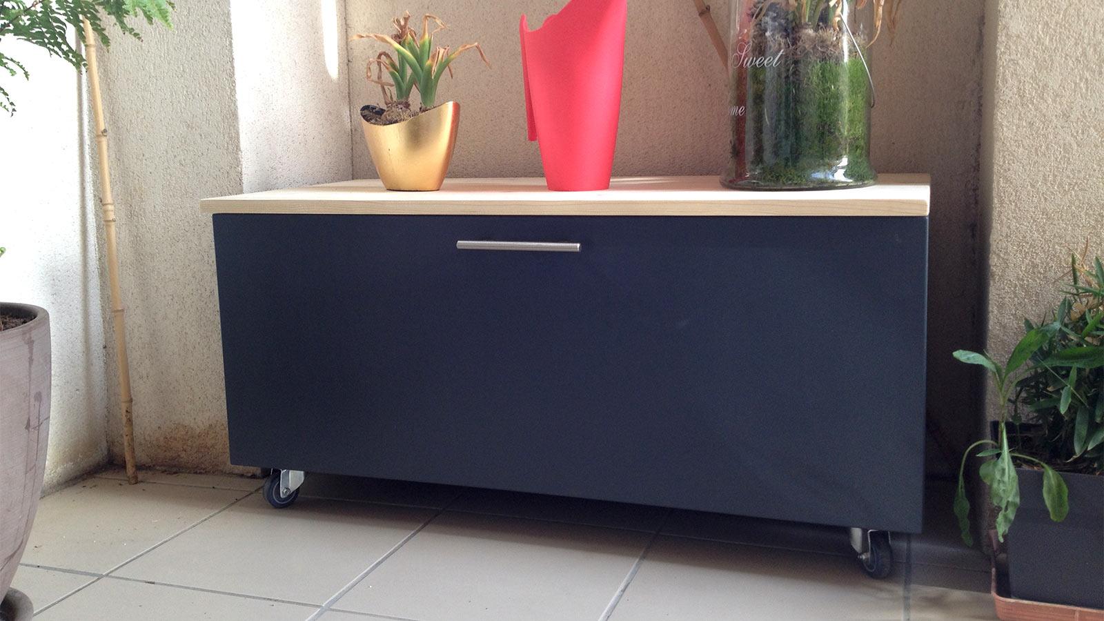 diy cr er un coffre de rangement pour balcon terrasse diy d co. Black Bedroom Furniture Sets. Home Design Ideas