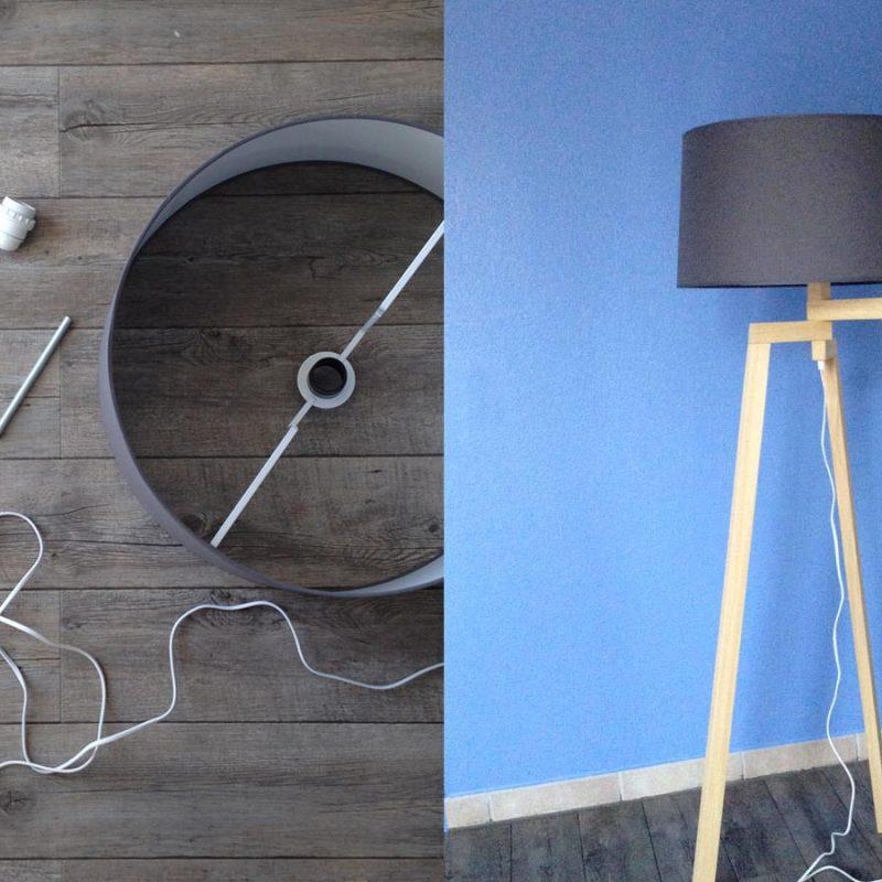 DIY Lampe trépied en bois style scandinave inspirée de Maison du Monde