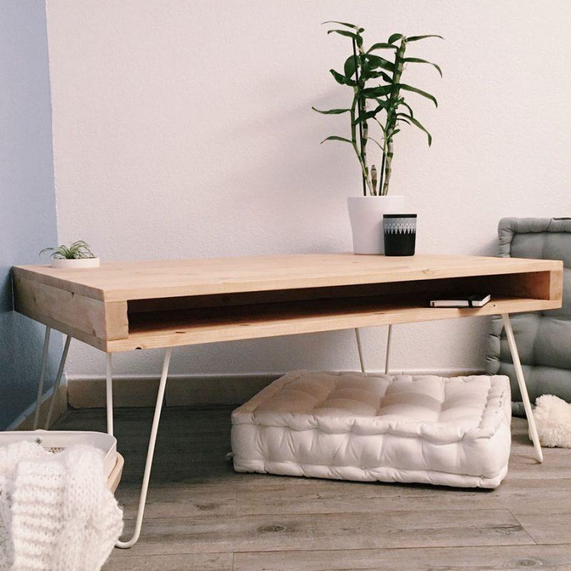 DIY Fabriquer une table basse avec des hairpin legs