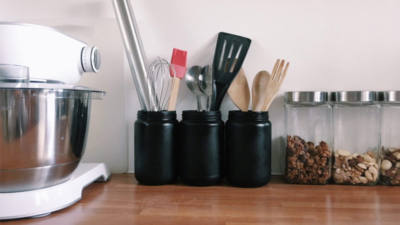 DIY De jolis pots à ustensiles de cuisine