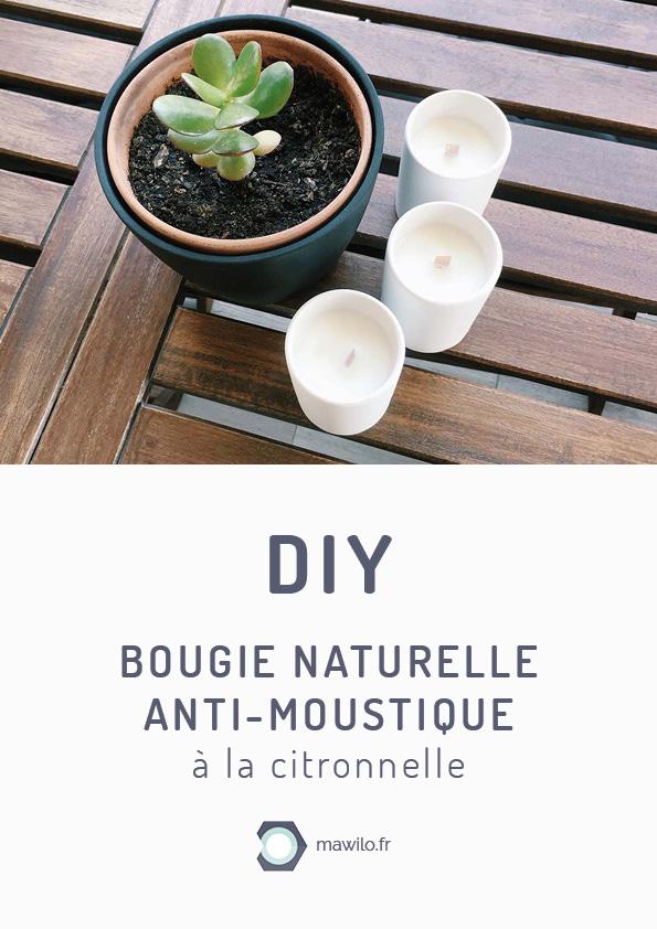 diy fabriquer une bougie naturelle anti moustique la citronnelle. Black Bedroom Furniture Sets. Home Design Ideas