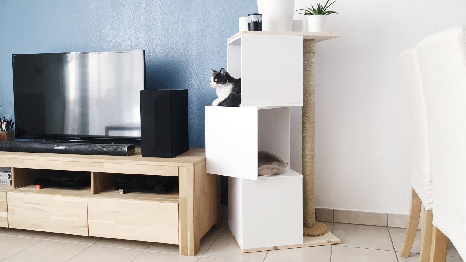 diy fabriquer un arbre chat facilement diy d co. Black Bedroom Furniture Sets. Home Design Ideas