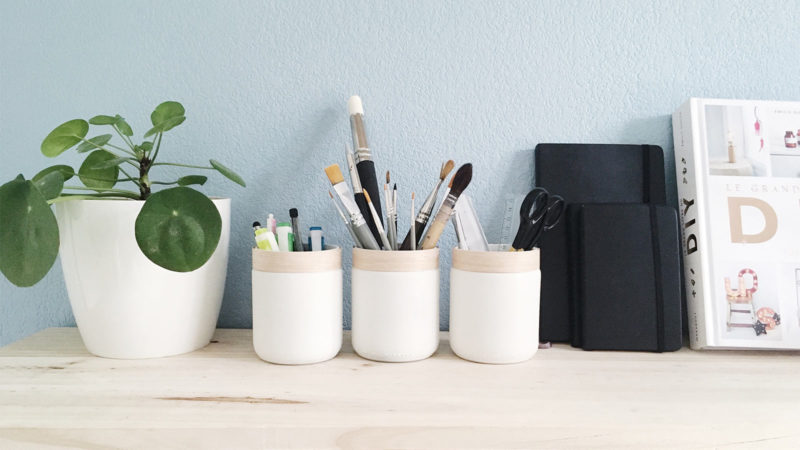 DIY Créer un pot à crayons style scandinave