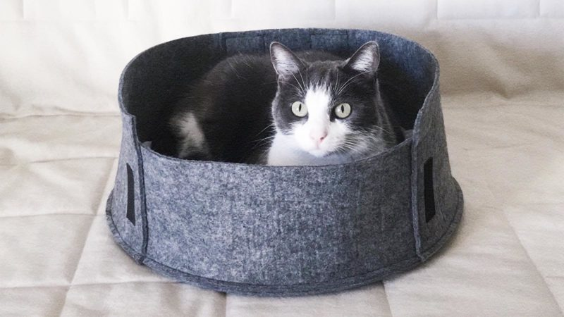 DIY Panier pour chat en feutrine