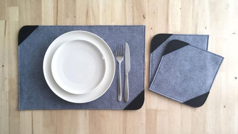 DIY Set de table et dessous de plat en feutrine